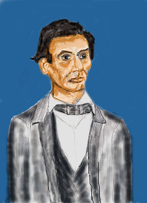 Abraham Lincoln Drawings Digital Art - Young Lincoln by Frank Arcilesi