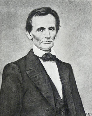 Drawing - Young Lincoln by Richard Barone