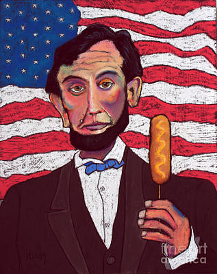 Abraham Lincoln Painting - Young Lincoln With A Corndog by David Hinds