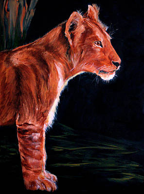 Painting - Young Lion by Ellen Canfield