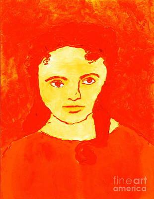 Young Liz Taylor 1 Art Print by Richard W Linford