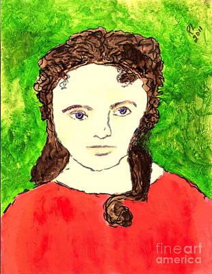 Young Liz Taylor 2 Art Print by Richard W Linford