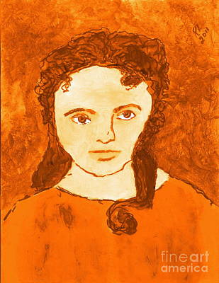 Young Liz Taylor 3 Art Print by Richard W Linford