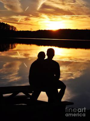 Photograph - Young Love And Sunsets by Christy Ricafrente