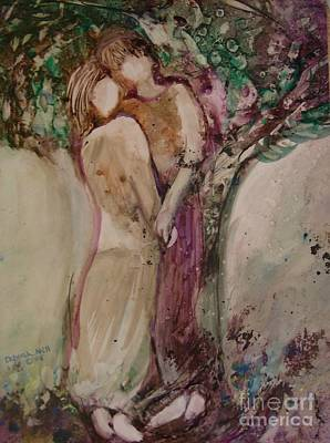 Young Love Art Print by Deborah Nell