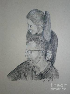 Drawing - Young Love by Michelle Welles