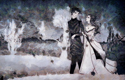 Painter Mixed Media - Young Love On A Stroll by Mario Carini