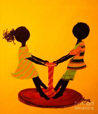 Painting - Young Love-twirling by Barbara Hayes