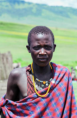 Photograph - Young Maasai Man by Amyn Nasser