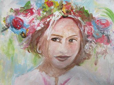 Painting - Ukrainian Girl With Flowers by Denice Palanuk Wilson