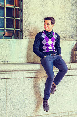 Photograph - Young Man Casual Fashion In New York 15042517 by Alexander Image