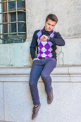 Photograph - Young Man Casual Fashion In New York 15042518 by Alexander Image