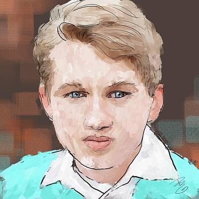 Digital Art - Young Man by Debra Baldwin