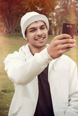 Photograph - Young Man In Mid-twenties Taking Mobile Photo by Jorgo Photography - Wall Art Gallery