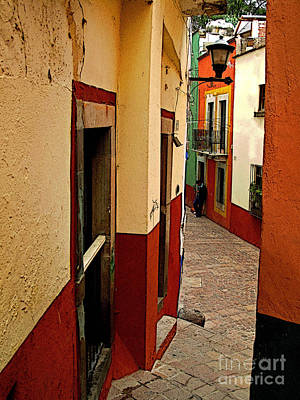 Young Man In The Alley Art Print by Mexicolors Art Photography