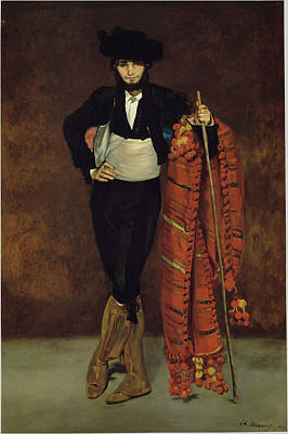 Young Man In The Costume Of A Majo Art Print by Edouard