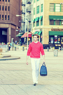 Photograph - Young Man Street Fashion 15041259 by Alexander Image