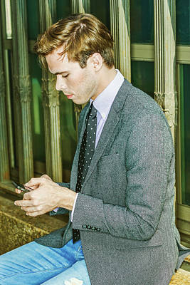 Photograph - Young Man Texting Anywhere 15041215 by Alexander Image
