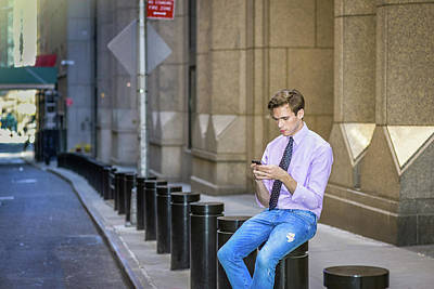 Photograph - Young Man Texting Anywhere 15041218 by Alexander Image
