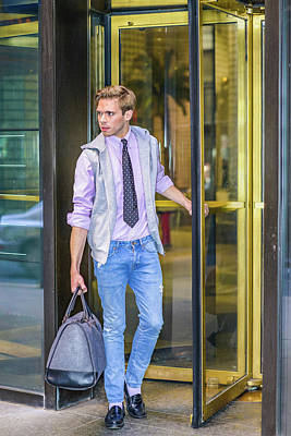 Photograph - Young Man Traveling 15041225 by Alexander Image