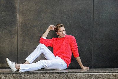 Photograph - Young Man Urban Casual Fashion 15041255 by Alexander Image