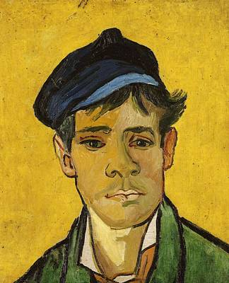 Painting - Young Man With A Hat by Artistic Panda