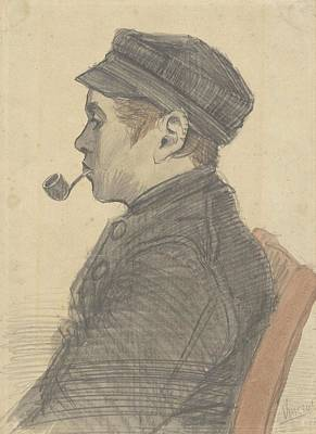 Painting - Young Man With A Pipe Nuenen, March 1884 Vincent Van Gogh 1853 - 1890 by Artistic Panda