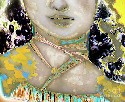 Blueberry Mixed Media - Young Mary Jamming In The Sunlight by Sherry Alice Roberts