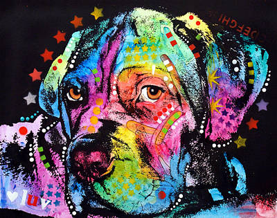 Puppies Mixed Media - Young Mastiff by Dean Russo