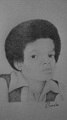 Young Michael Jackson Drawing - young Michael Jackson by Alexandros Foltopoulos