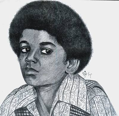 Young Michael Jackson Art Print by Bobby Dar