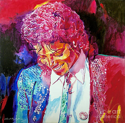 Rock Painting - Young Michael Jackson by David Lloyd Glover
