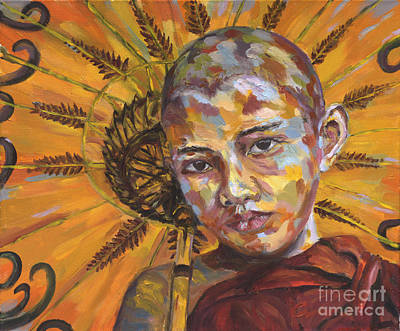 Painting - Young Monk by Michael Cinnamond