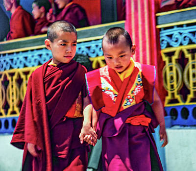 Mahayana Photograph - Young Monks - Buddies by Steve Harrington