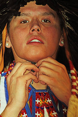 Photograph - Young Native by Audrey Robillard