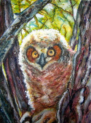 Painting - Young Owl by Carol Warner