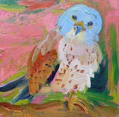 Painting - Young Owl by Tracy Haines