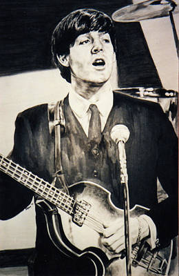 Lefty Drawing - Young Paul by Mary Anne Hjelmfelt