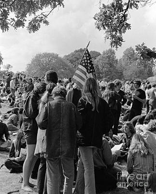 Sit-ins Photograph - Young People At A Demonstration, C.1970s by H. Armstrong Roberts/ClassicStock