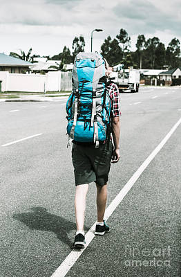 Photograph - Young Person Hiking With Backpack by Jorgo Photography - Wall Art Gallery