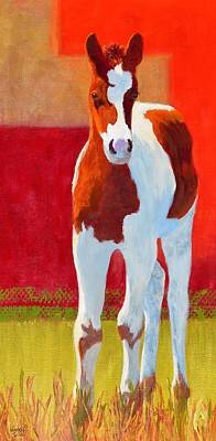 Young Pinto Art Print by Nancy Jolley