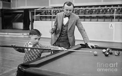 Young Pocket Billiards Wizard, 1927 Art Print by Science Source