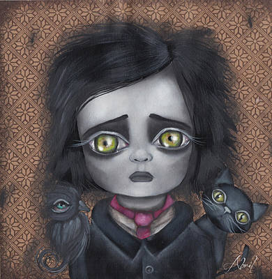 Painting - Young Poe by Abril Andrade Griffith