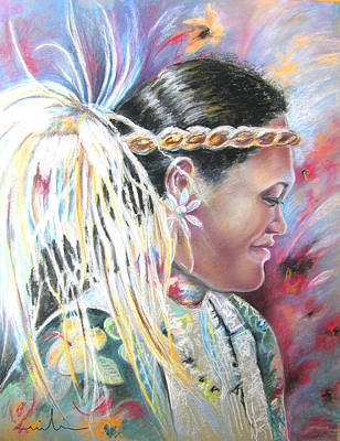 Painting - Young Polynesian Mama by Miki De Goodaboom