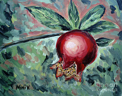 Painting - Young Pomegranate by Maria Langgle