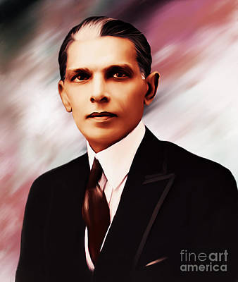Muhammad Painting - Young Quaid E Azam by Gull G