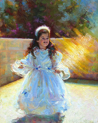 Purim Painting - Young Queen Esther by Talya Johnson