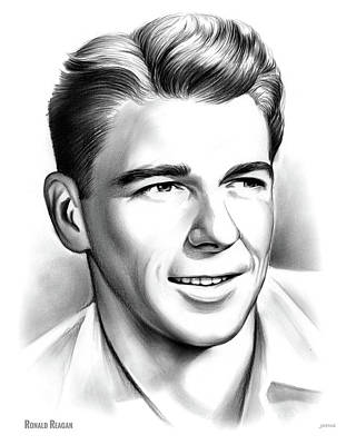 Young Reagan Art Print by Greg Joens