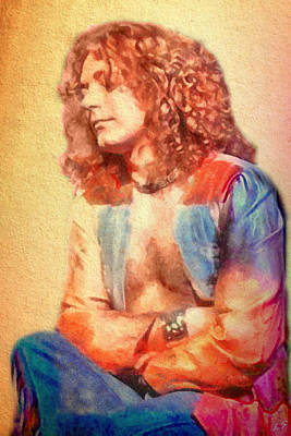 Led Zeppelin Painting - Young Robert Plant by Sergey Lukashin