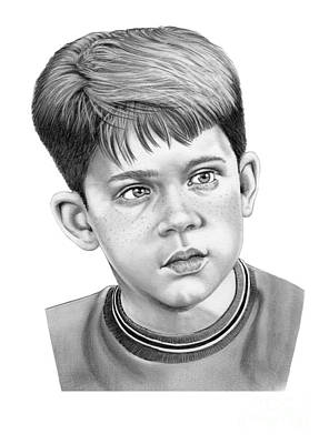 Howard Drawing - Young Ron Howard by Murphy Elliott